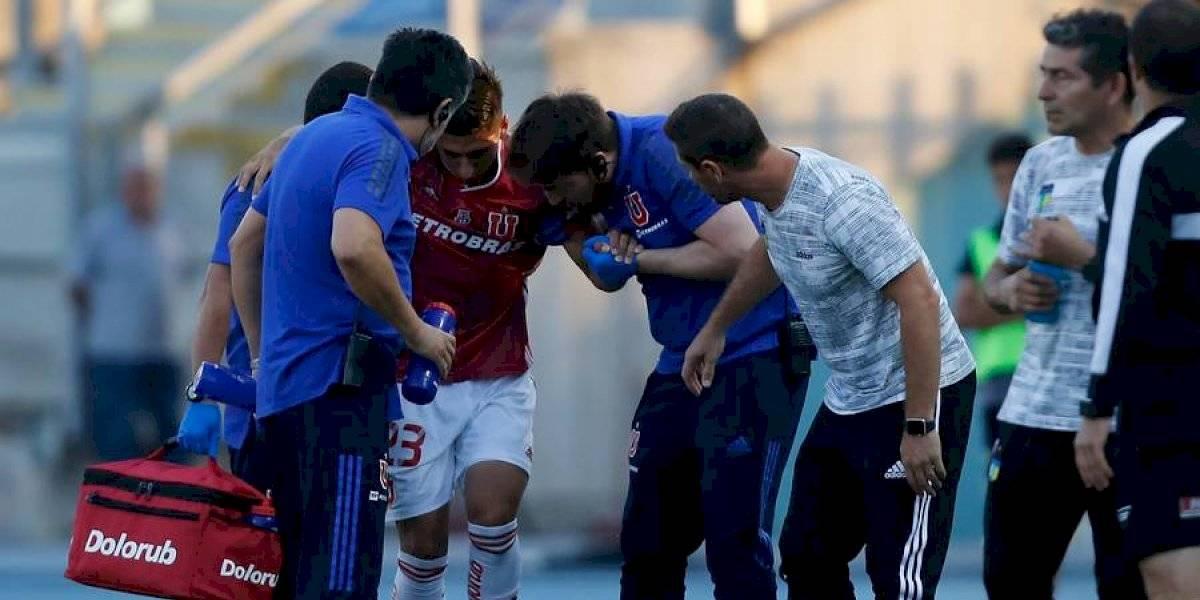 """Fernando Cornejo sufre un esguince en su tobillo y será baja en la """"U"""" por al menos cuatro semanas"""