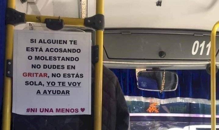 Mensaje conductor de bus a mujeres