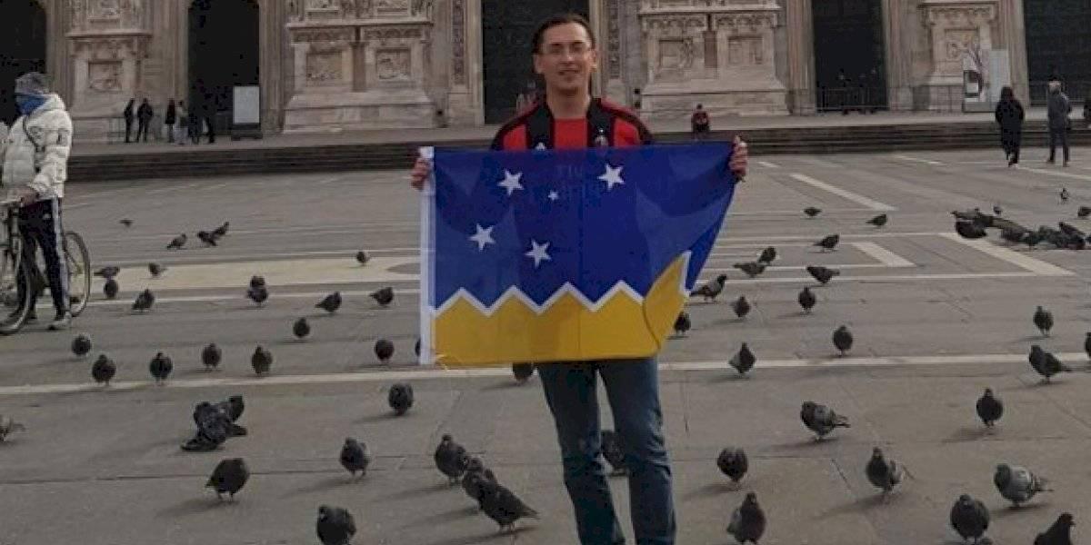 Al menos recibió una sorpresa: chileno viaja desde la Patagonia para cumplir su sueño de ver al Milan y partido fue suspendido por coronavirus