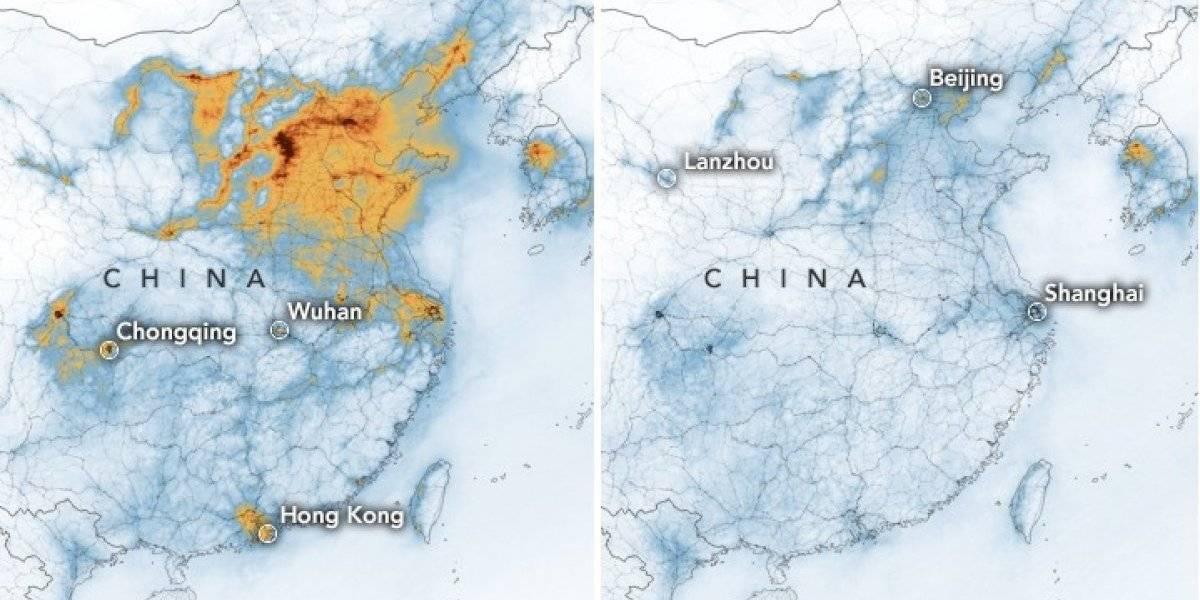 Impactante imagen tras brote de coronavirus en China: NASA revela histórica reducción de la contaminación