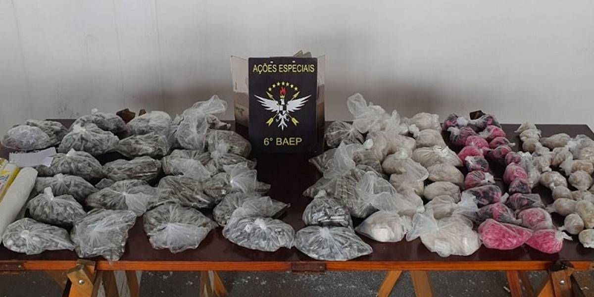 Polícia apreende 7,8 mil porções de maconha e coca em Santo André