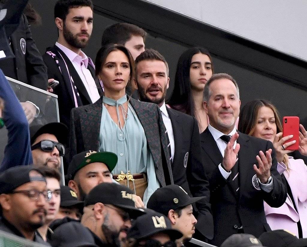 El Moyo Contreras capta a David y Victoria Beckham en debut MLS