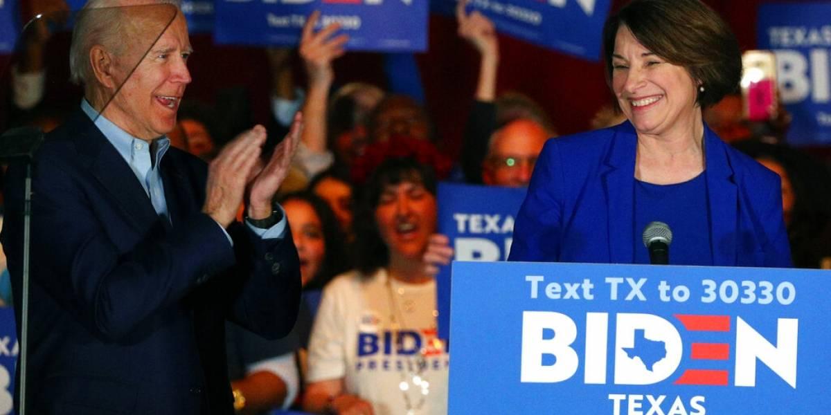 Amy Klobuchar y Pete Buttigieg apoyan a Biden tras retirar sus precandidaturas presidenciales