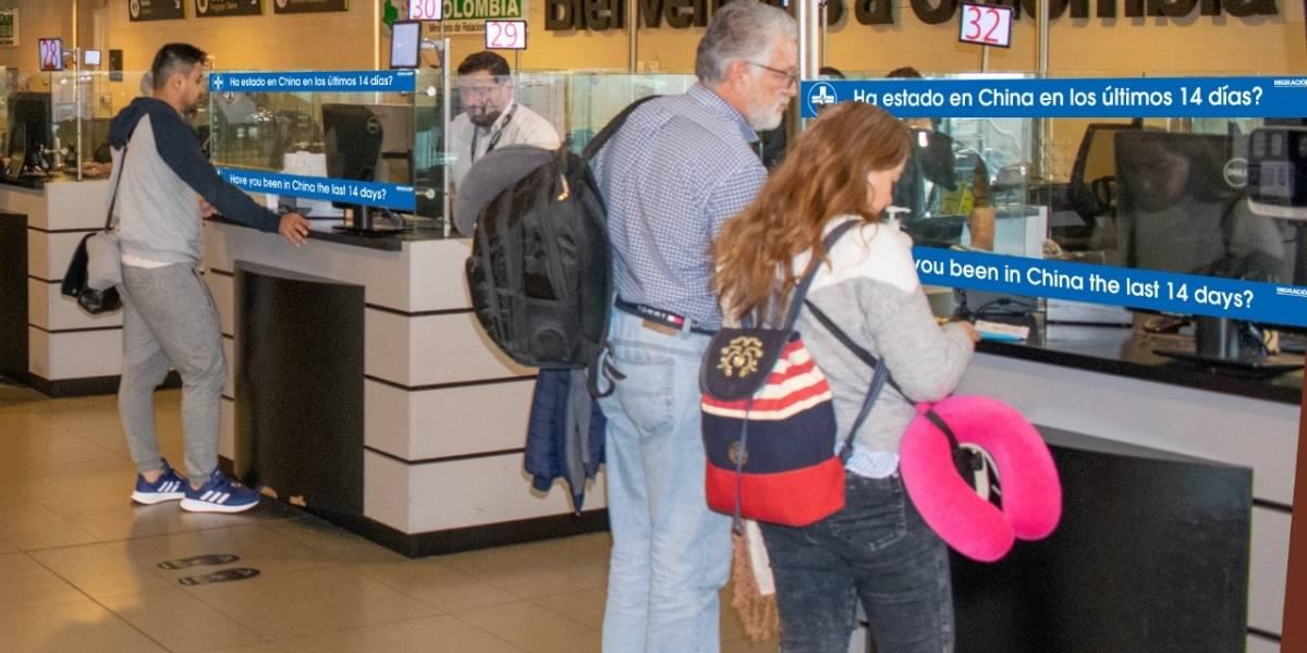 Así están recibiendo a los viajeros en Colombia por alto riesgo de llegada del coronavirus