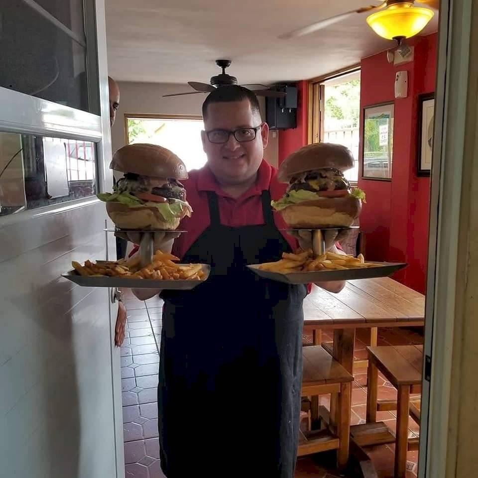 hamburguesa de una libra