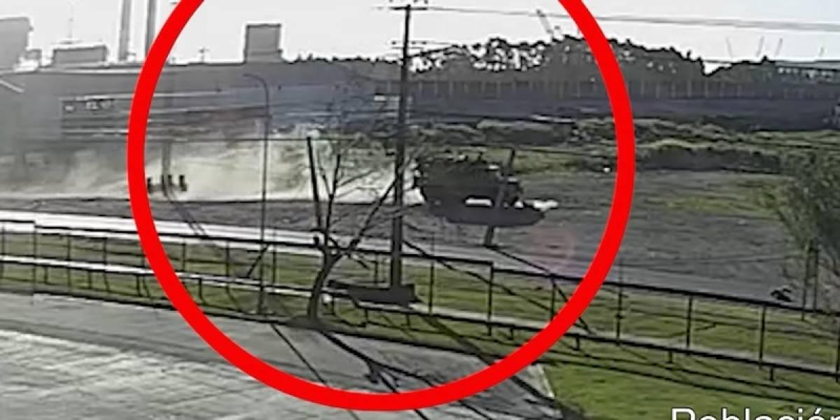 Contradice la declaración del conductor: filtran video de atropello fatal de patrulla de la Armada a manifestante en Talcahuano