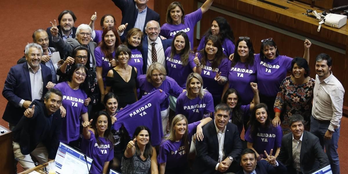 Cámara aprueba paridad de género y pasa al Senado
