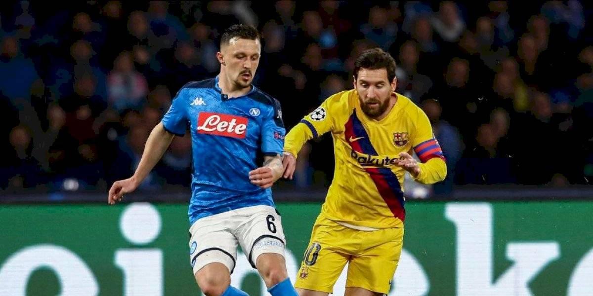 Barcelona-Napoli, en serio riesgo de jugarse a puerta cerrada por Coronavirus