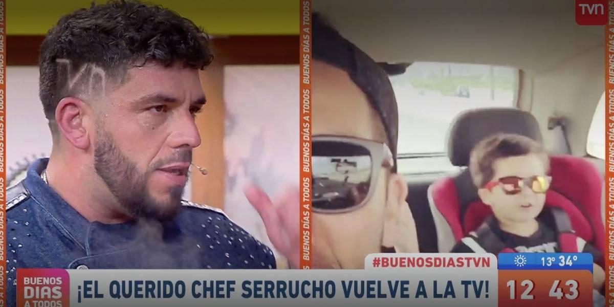 """Chef """"Serrucho"""" reaparece en la TV en """"Buenos Días"""" con particular guiño a TVN"""