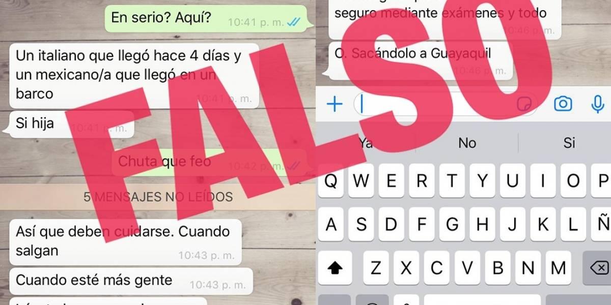 Redes 'inundadas' de noticias falsas sobre el coronavirus en Ecuador