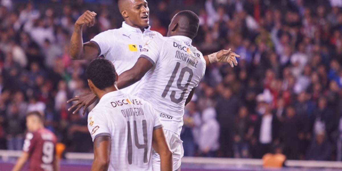 Liga de Quito jugó, gustó y goleó en Casa Blanca