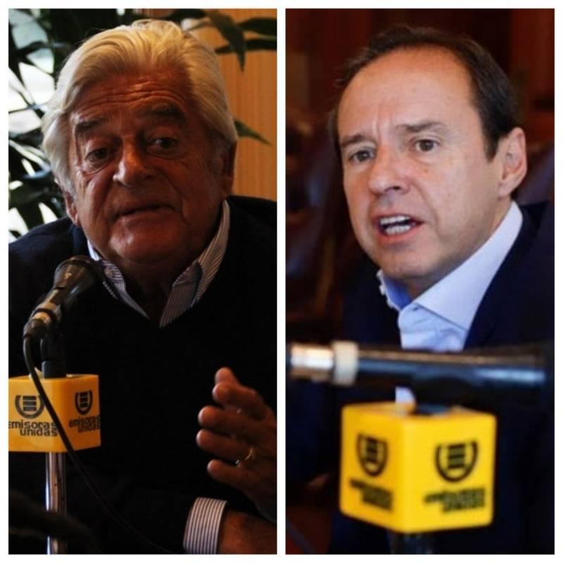Alberto Lacalle, expresidente de Uruguay; y Jorge Fernando Quiroga, expresidente de Bolivia