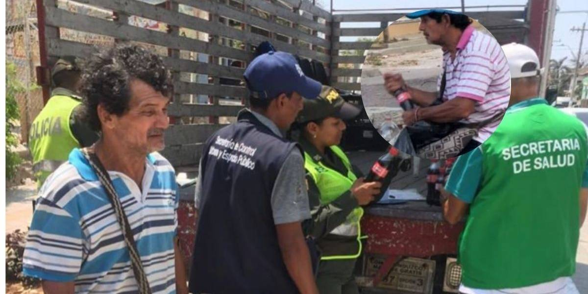 (VIDEO) Detienen a vendedor ambulante que reenvasaba gaseosas en botellas usadas