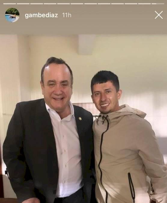 Presidente Alejandro Giammattei con Alejandro Díaz