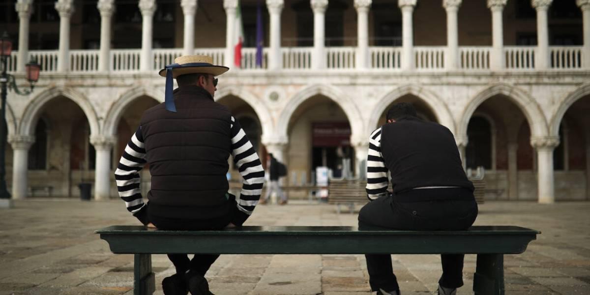 Imágenes impensadas hace un par de semanas: Venecia sin turistas por coronavirus
