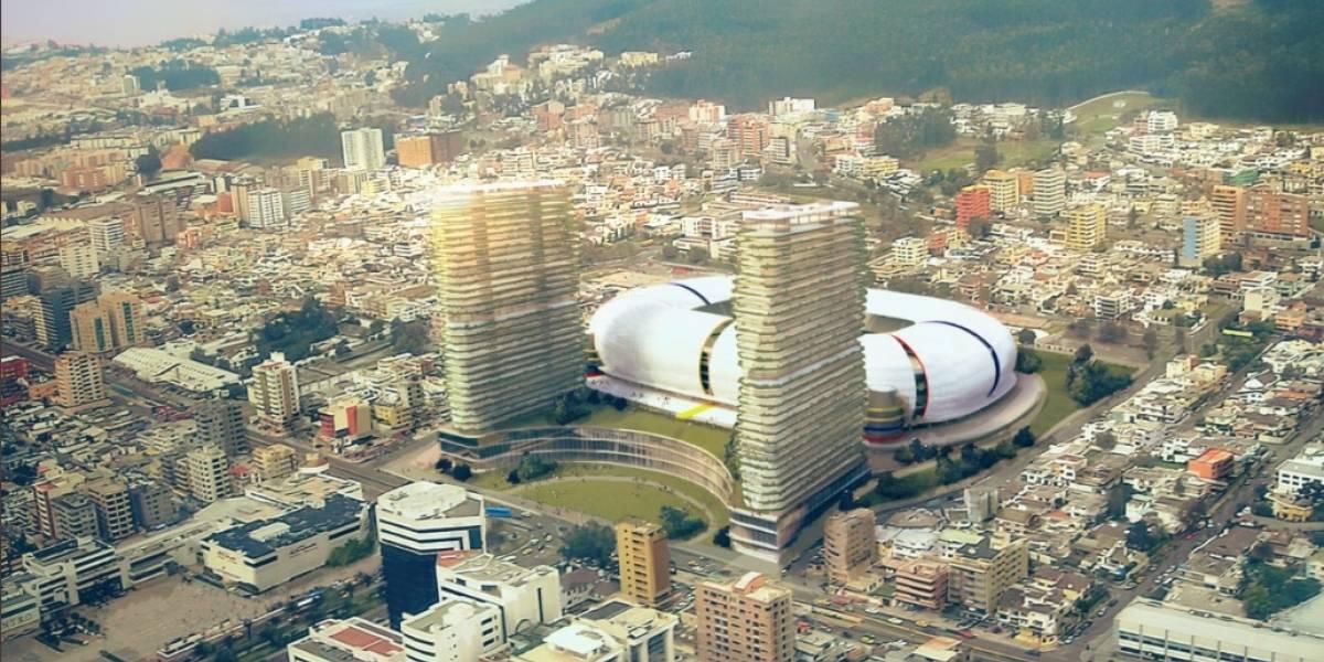 Jorge Yunda muestra cómo sería el diseño del nuevo 'Arena Atahualpa' en Quito