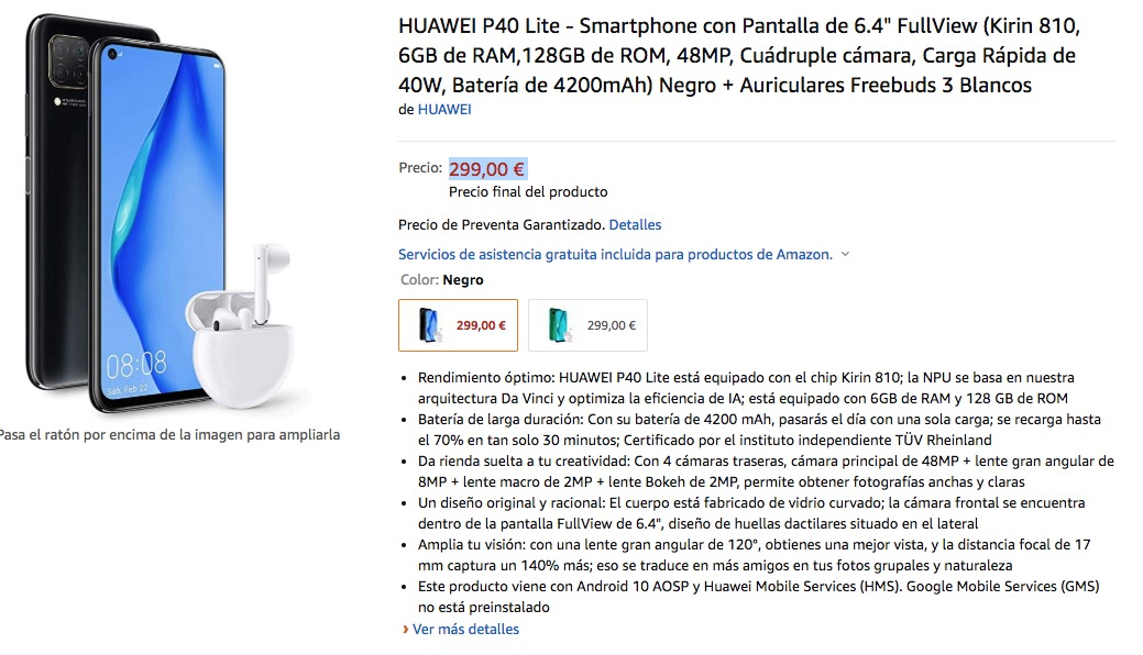 Huawei P40 Lite Freebuds