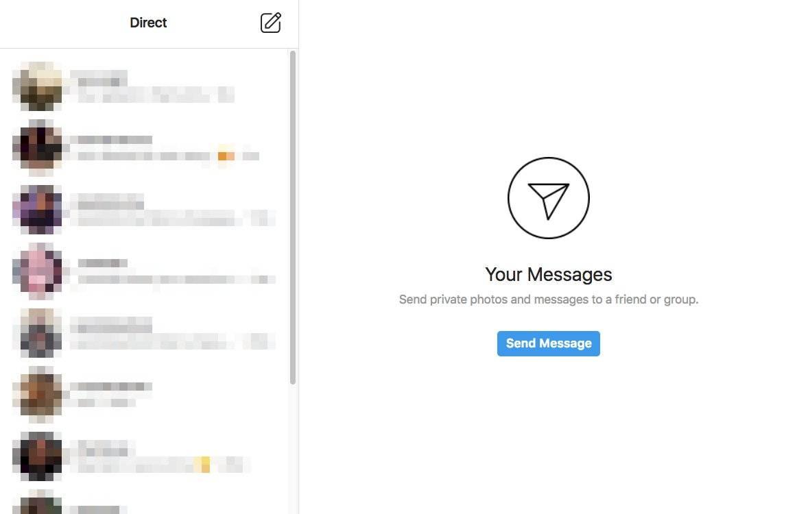 Instagram mensajes web