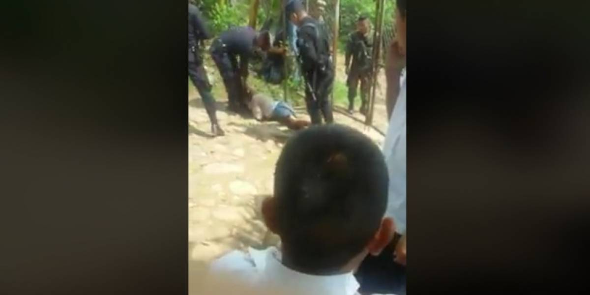 Presidente repudia indignante video de policía golpeando brutalmente a niño con discapacidad