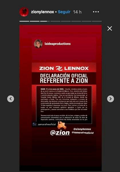 Zion comunicado
