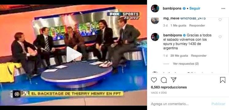Bambino Pons vuelve a narrar Premier League