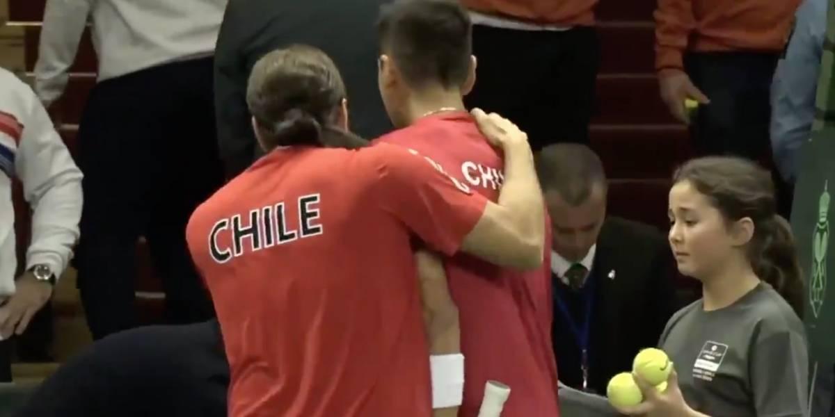 ¡Se volvieron locos! La efusiva celebración de Massú y Tabilo tras su triunfo en Copa Davis