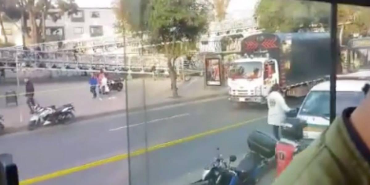 Muere ciclista al ser atropellado frente a Portal de TransMilenio