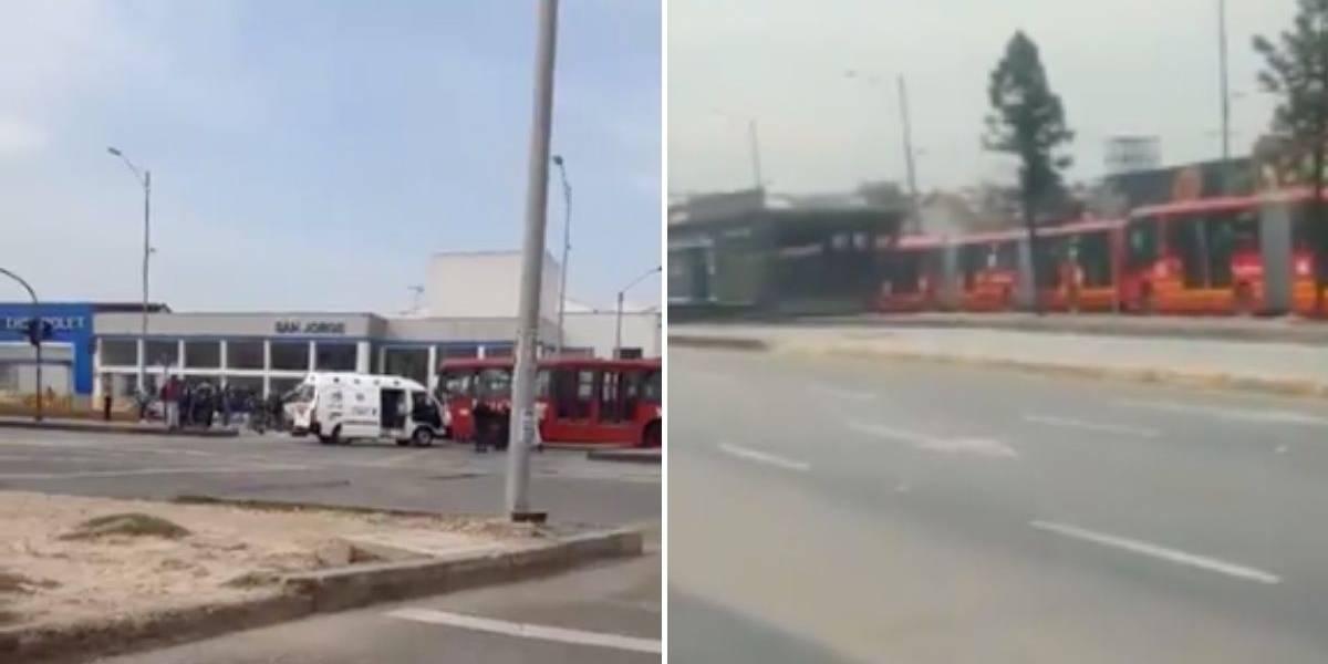 Grave accidente entre bus de TransMilenio y ambulancia genera caos vehicular en Bogotá