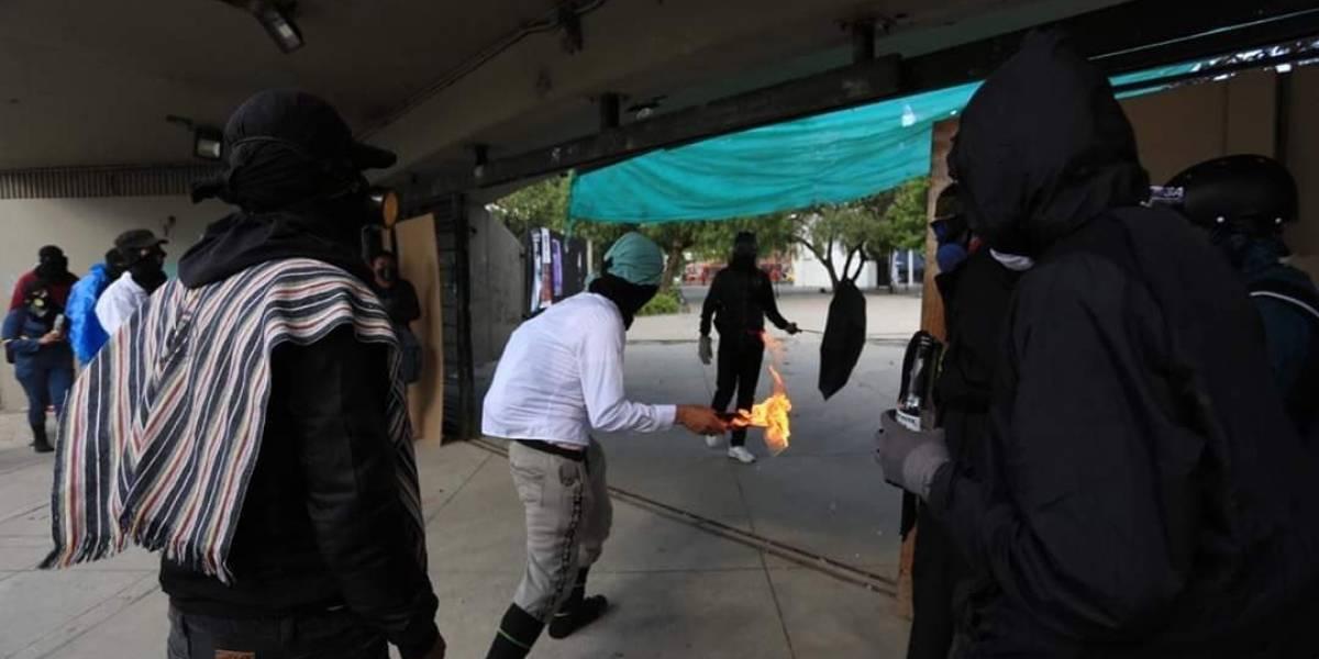 Claudia López alerta que encapuchados lanzaron botellas con ácido en las últimas protestas