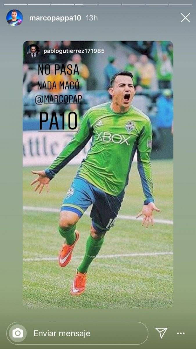 Foto Instagram | Marco Pappa recibe mensajes de apoyo tras resolución que lo envía a la cárcel