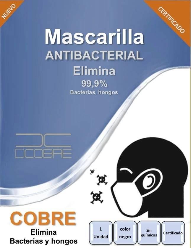 Mascarilla de cobre antibacterial