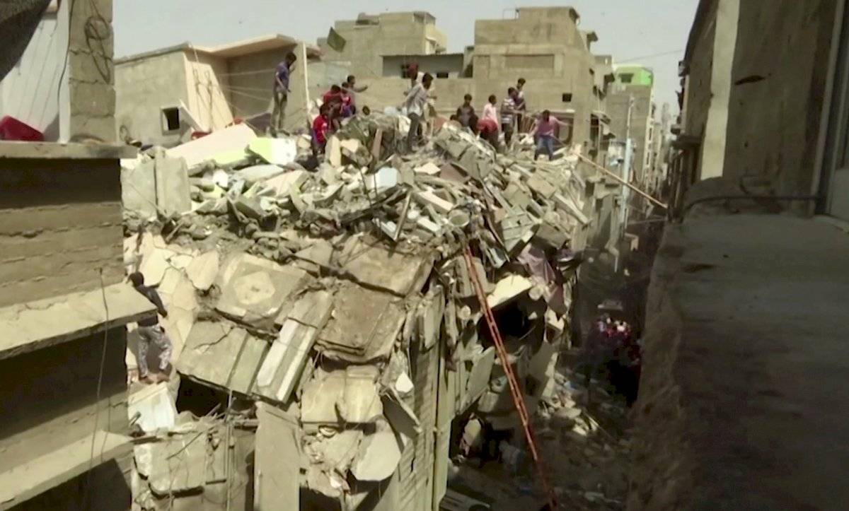 Derrumbe en Pakistán