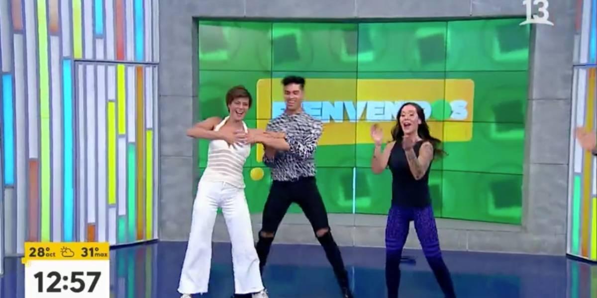 """A lo """"Dirty Dancing"""": Tonka sufre chascarro al """"intentar"""" bailar con Francisco Saavedra"""