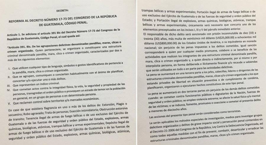 """Dictamen favorable que dio Comisión de Gobernación a """"ley antimaras"""""""