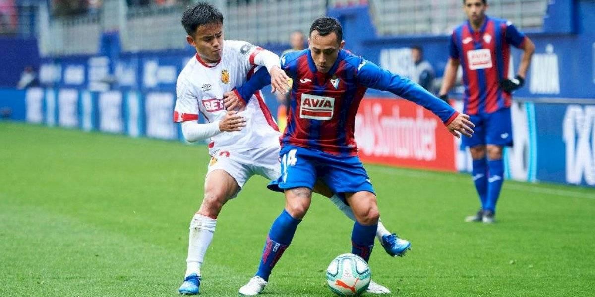 La asistencia de Fabián Orellana no evitó la derrota del Eibar y empieza a preocuparse con la zona de descenso en España