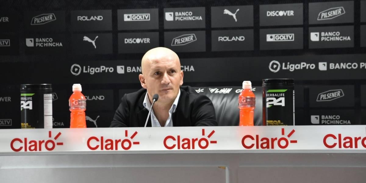 Pablo Repetto 'estalló' ante las declaración de Fabián Bustos después del partido Liga vs Barcelona SC