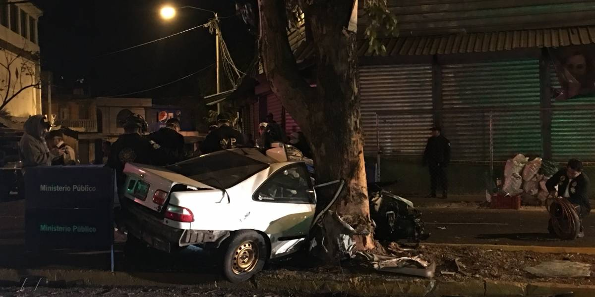 Taxista muere en accidente de tránsito en la zona 18 capitalina