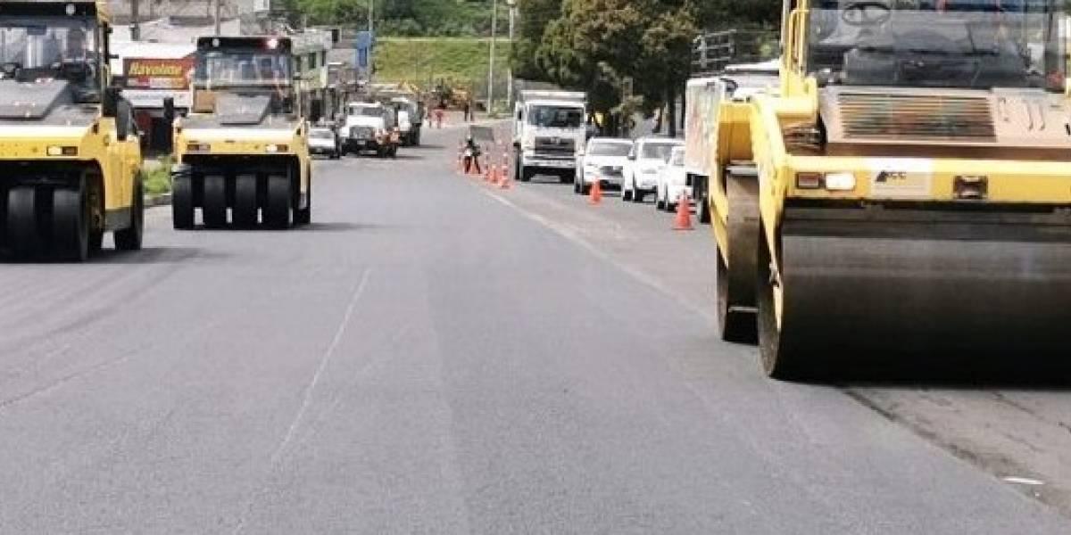 AMT: se registran cierres viales en el sur de Quito por trabajos de repavimentación