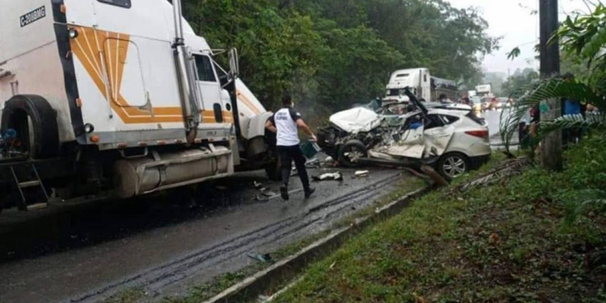 VIDEO. Tres personas mueren tras violento accidente en ruta al Atlántico