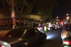Vecinos de varias colonias de la zona 18 capitalina y conductores fueron afectados por un accidente de tránsito en el bulevar San Rafael.