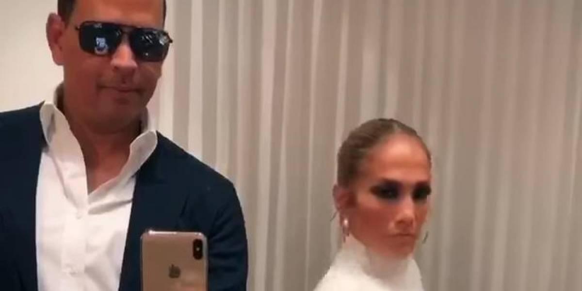 Alex Rodríguez se viste como Jennifer Lopez en divertido video hecho con aplicación TikTok