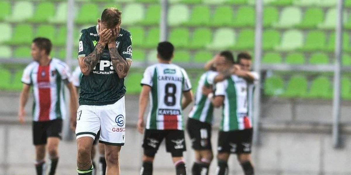 Santiago Wanderers cayó ante Palestino y se sigue complicando con el descenso