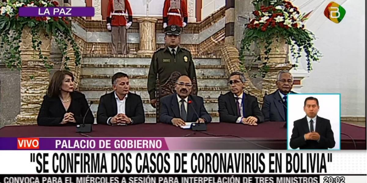Bolivia reporta primeros dos casos confirmados de coronavirus