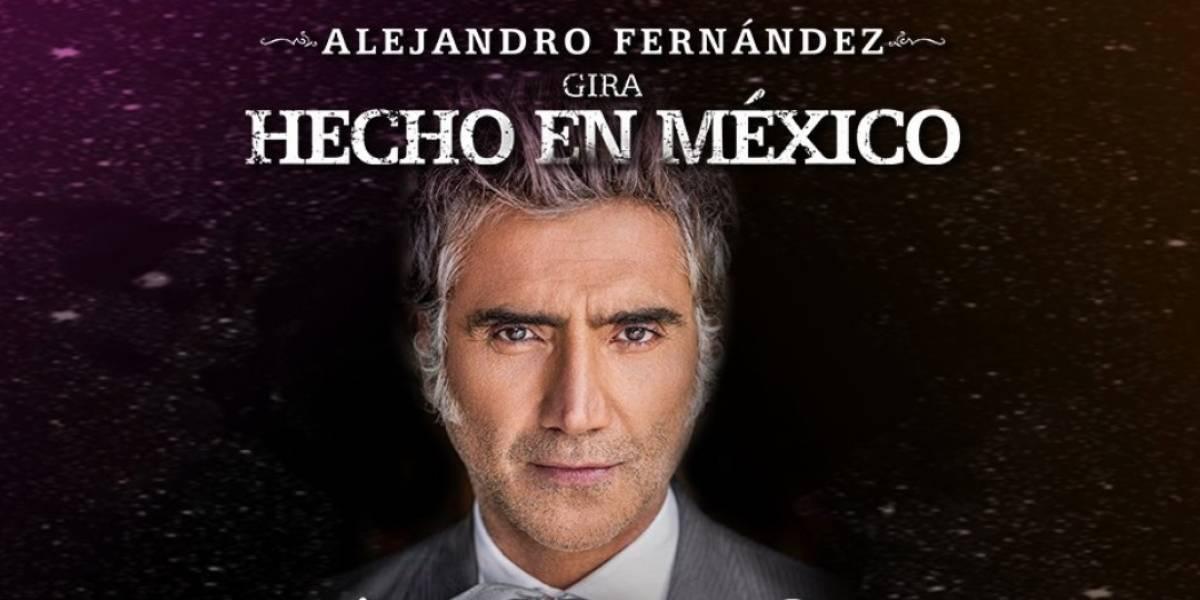 Alejandro Fernández llega a Bogotá para presentar su 'Hecho en México'