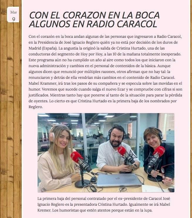 Negra Candela - Caracol Radio - Cristina Hurtado