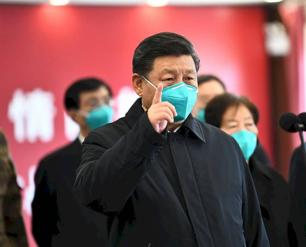 Xi Jinping con mascarilla por coronavirus