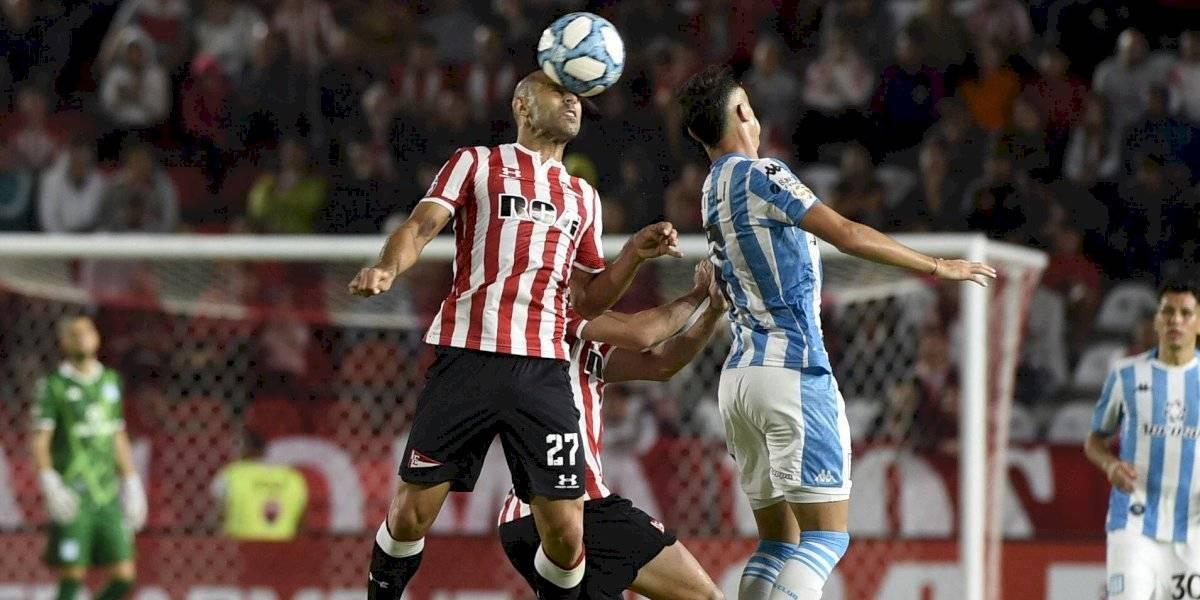 Gabriel Arias fue el único chileno que sumó minutos en la victoria de Racing sobre Estudiantes