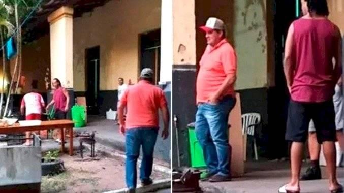 Hinchas llevan pizza a Ronaldinho en cárcel de Paraguay