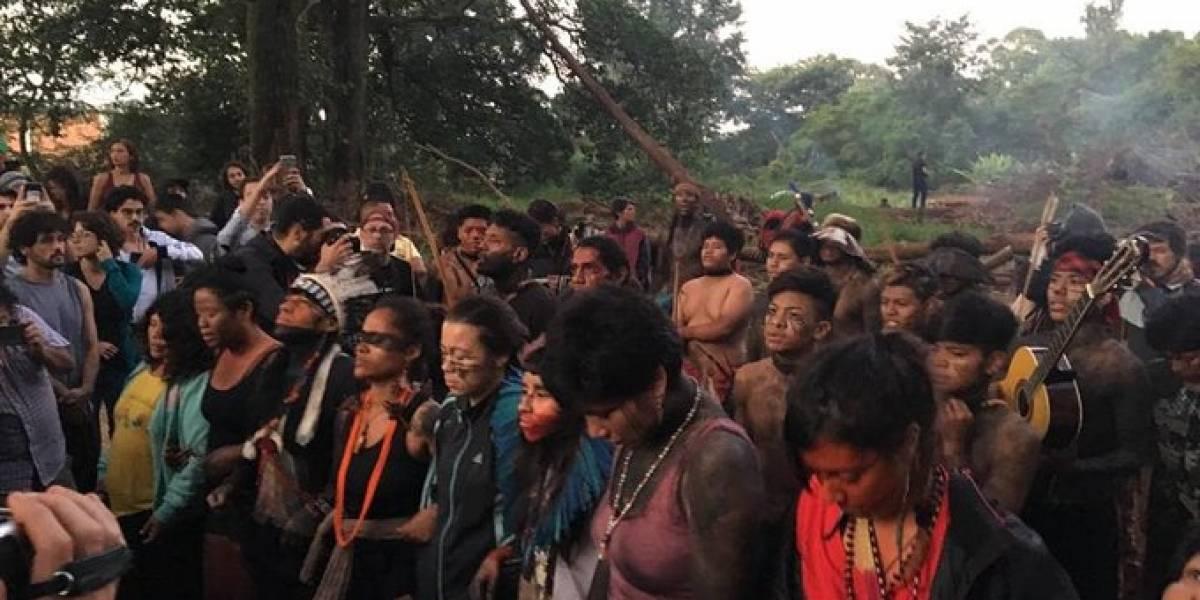 Indígenas ocupam área para impedir reintegração de posse no Pico do Jaraguá