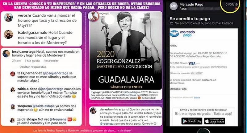 Roger González estafa
